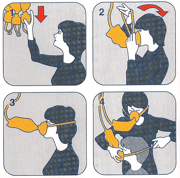 Icon from Airplane Safety Guide For Putting on Your Own Oxygen Mask Before Helping Others
