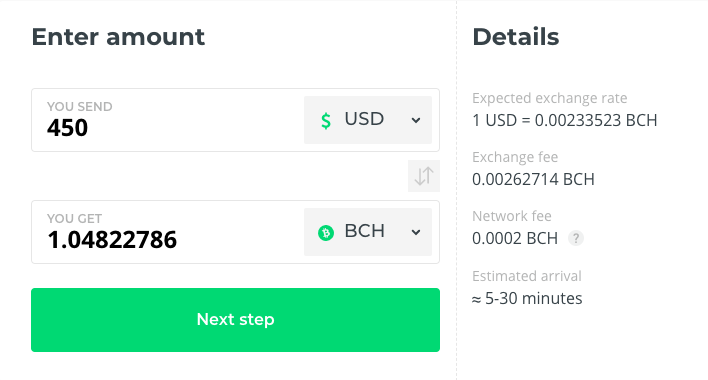 Buy BCH at Changelly