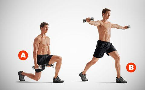 split-squat shoulder raise
