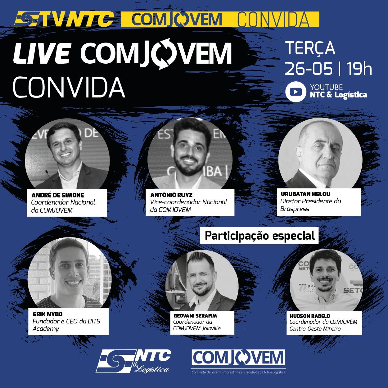 Pesquisa de Impacto no TRC e 'COMJOVEM Convida' hoje na TV NTC