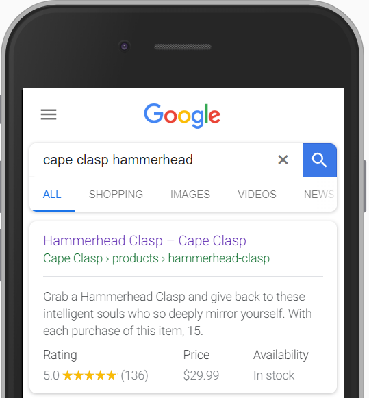 Shopify Product Reviews displaying in Google Search Results