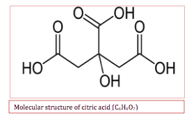citric acid in lime juice