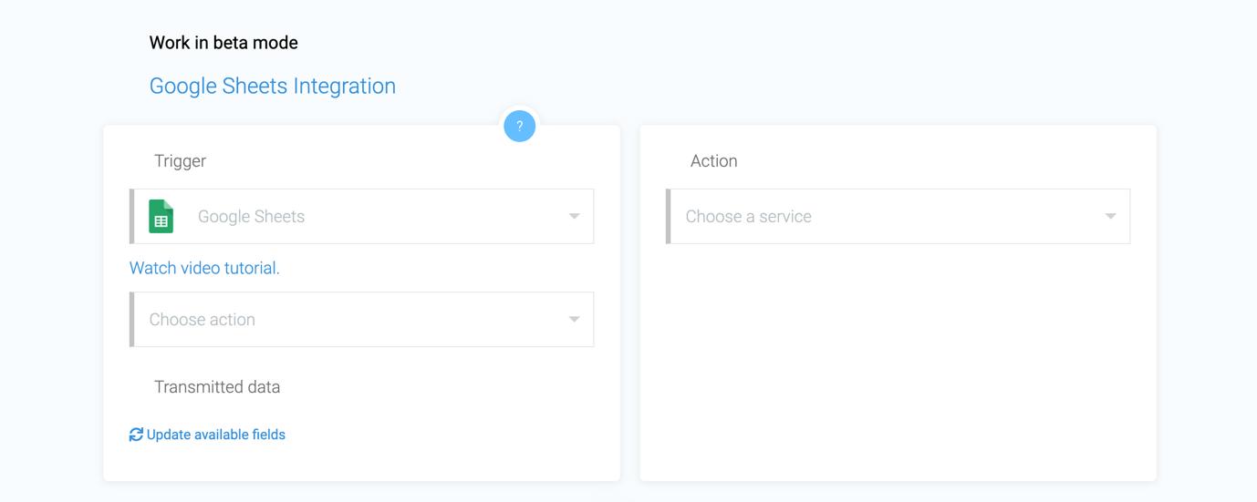 apiway google sheets integrations screenshot