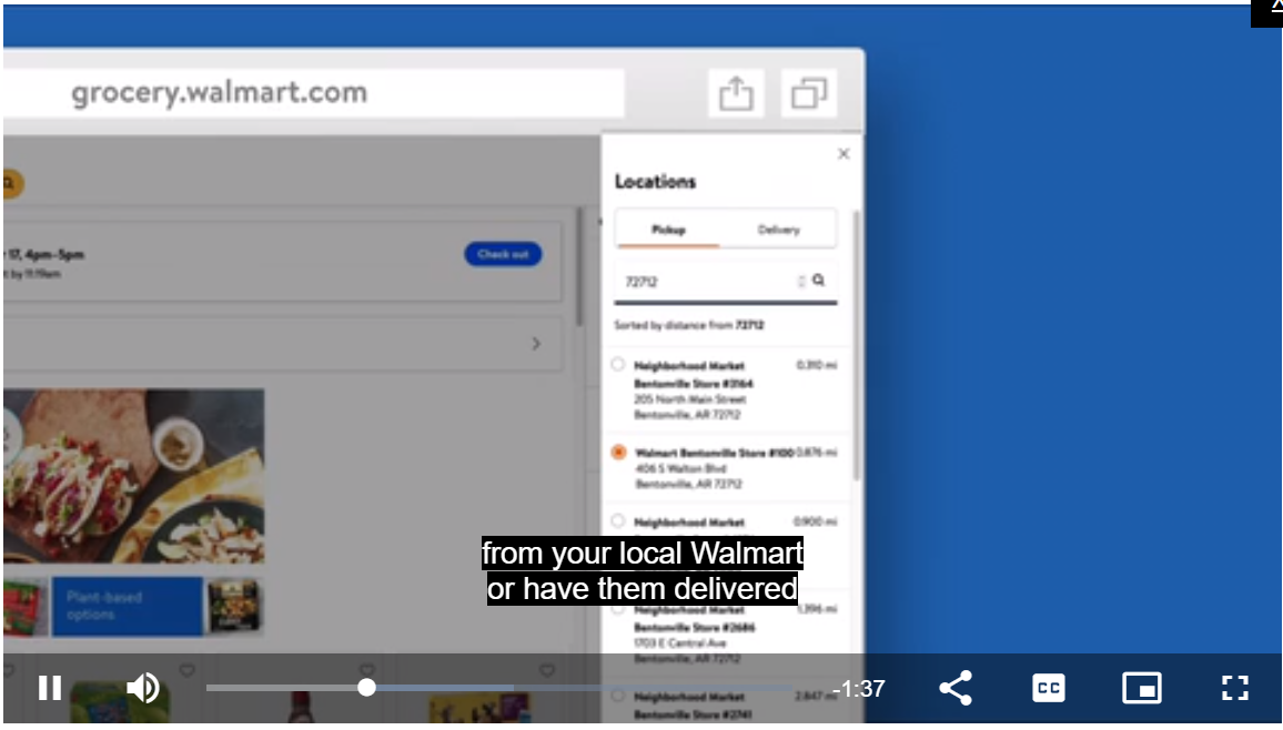 Walmart Grocery Store Ecommerce Help Guide
