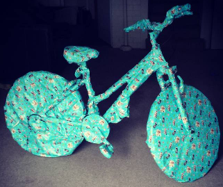over wrapped bike