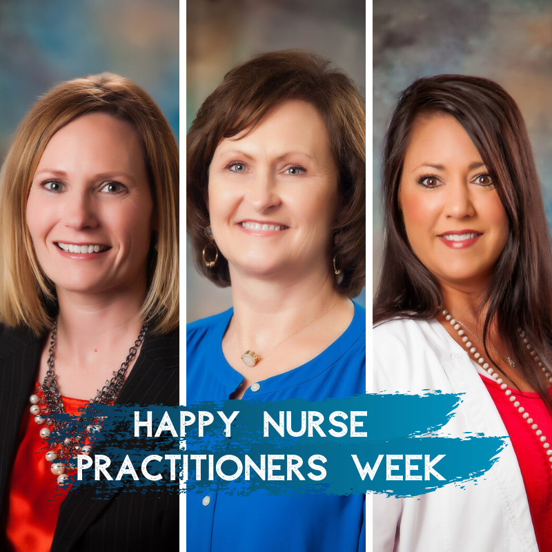 nurse practitioners; Amanda Martin, FNP; Donna Cannon, FNP; and Crystal Nichols, FNP