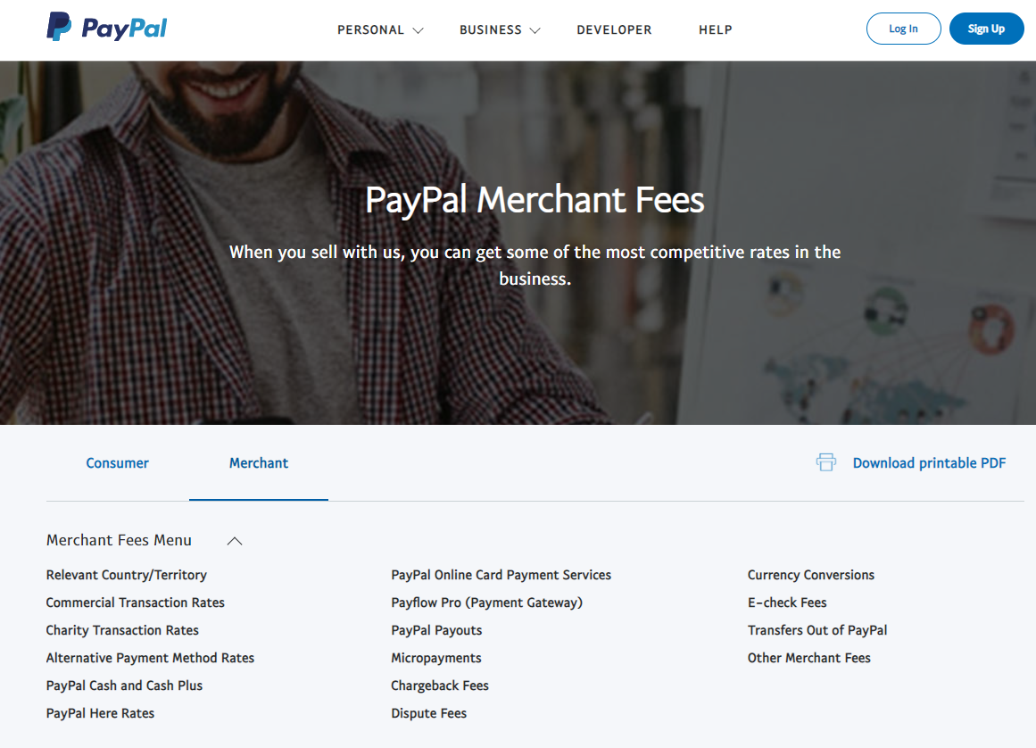 paypal pricing