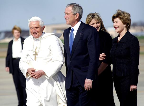 Le pape avec George W. Bush