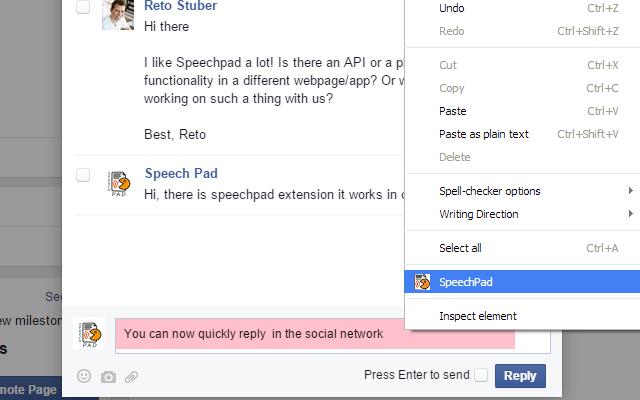 Online speech recognition - Speech Pad chrome extension