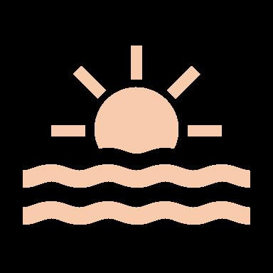 Sonnenuntergangsszenerie