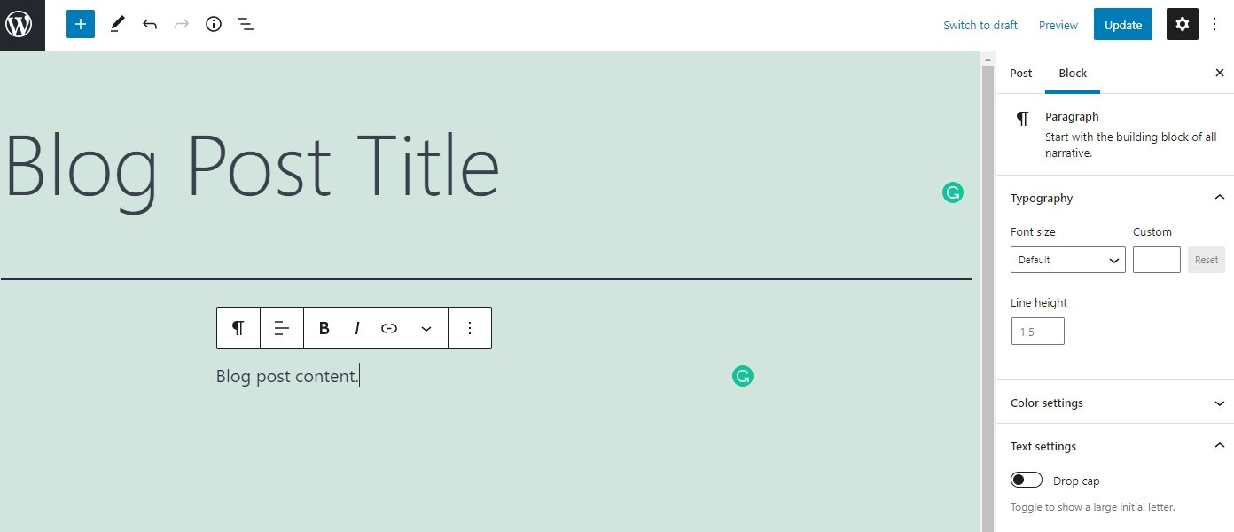 WordPress adding content to your blog
