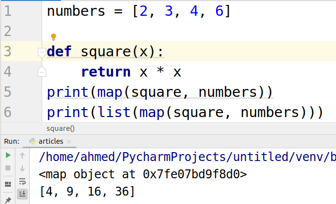 Python map() function with EXAMPLES