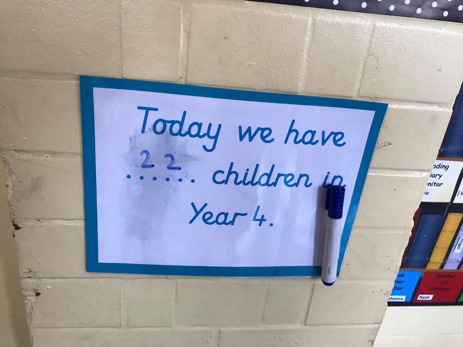 На випадок екстренної ситуації у класі завжди є список з кількістю дітей, що перебувають там у певний день