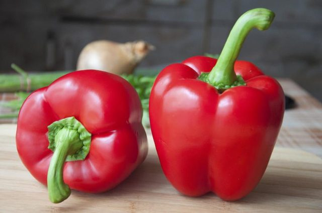 Red bell peppers are high in vitamin C and can lower cortisol levels.