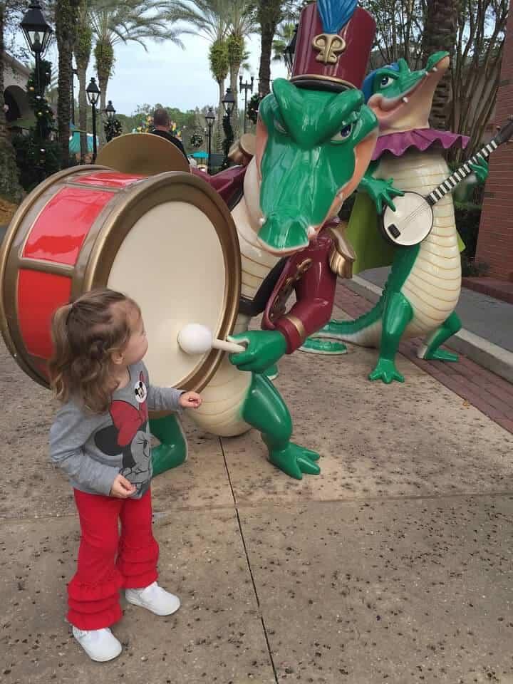 decorations at Disney's Port Orleans