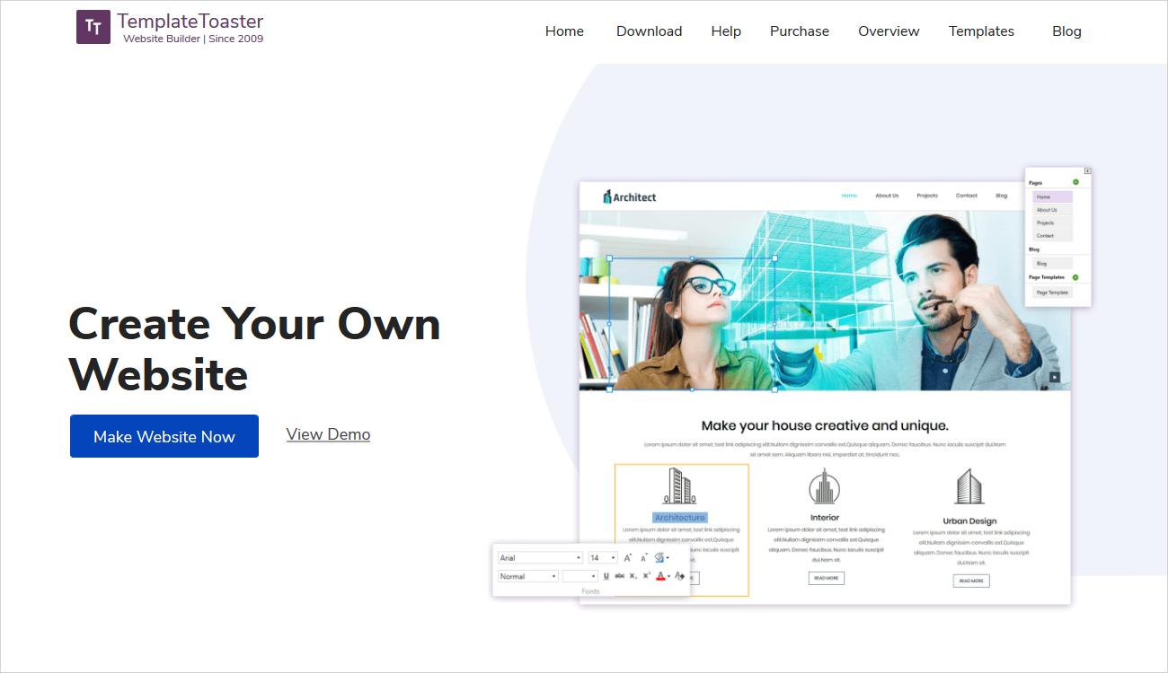 TemplateToaster Website Builder Review