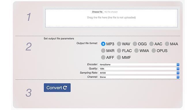 js audio converter