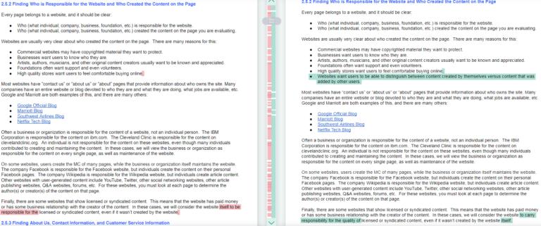 Resumen de cambios realizados en la actualización de las directrices para Quality Raters 3