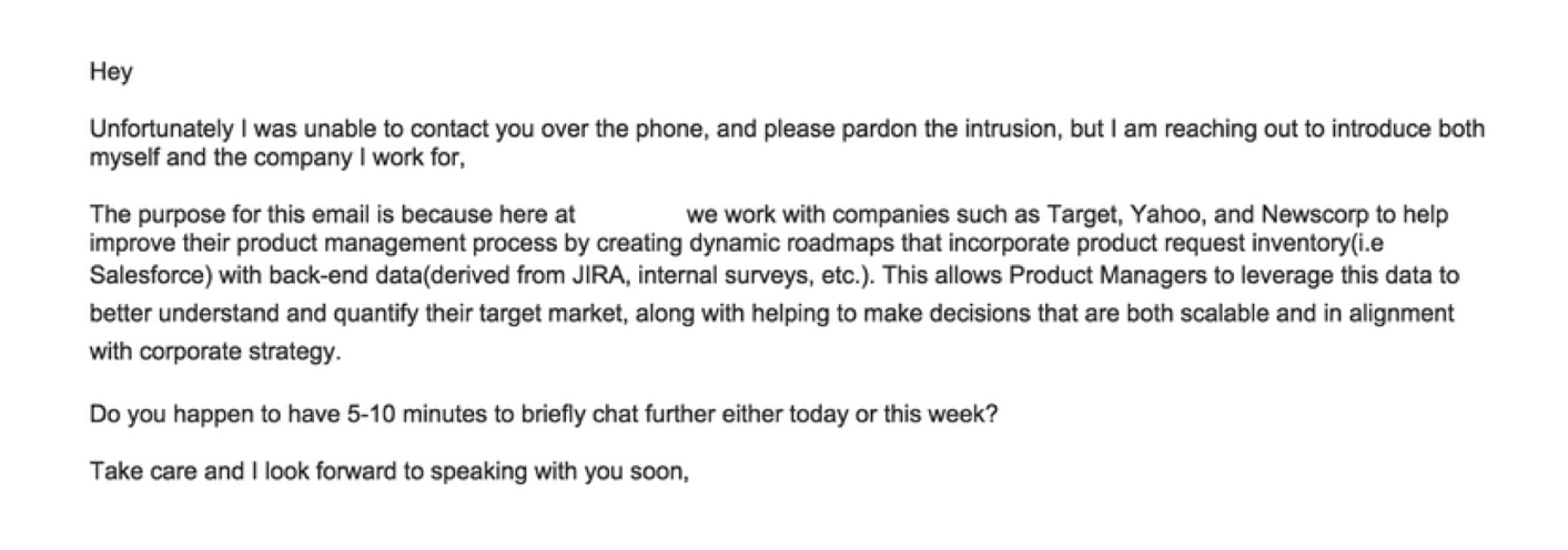 an apologetic sales email that won't help you convert