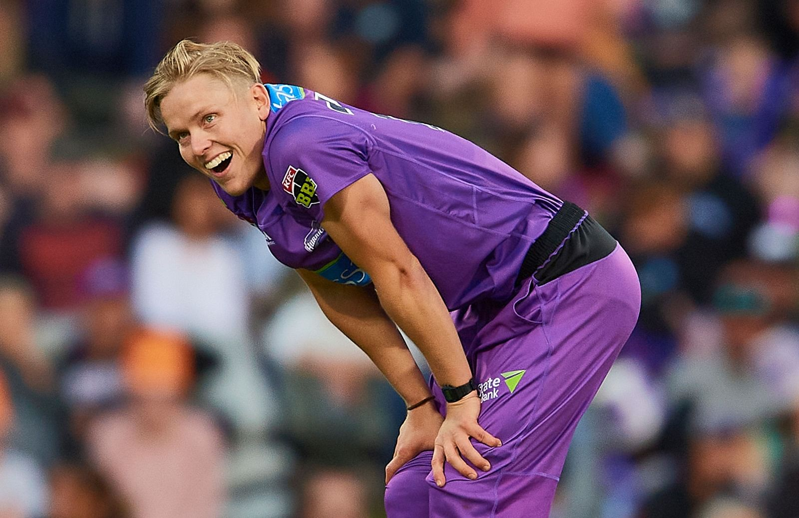 Nathan Ellis in a Hobart Hurricanes jersey