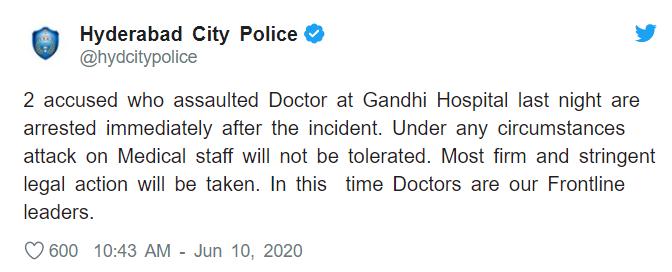 Telangana Doctors Protest
