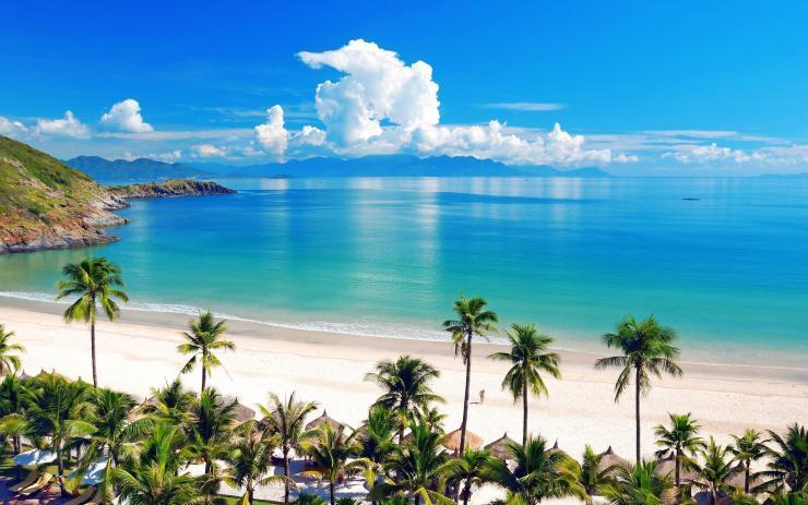 Kết quả hình ảnh cho du lịch biển bãi dài  nha trang alma