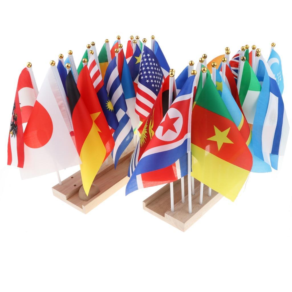 drapeaux du monde géographie montessori support en bois