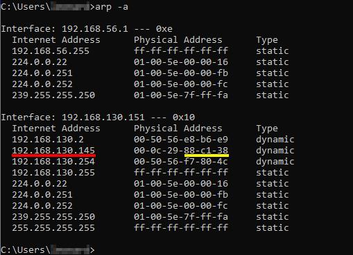 Ettercap Arp poisoning attack [Part 2] - Windows 10 ARP cache. Source: nudesystems.com