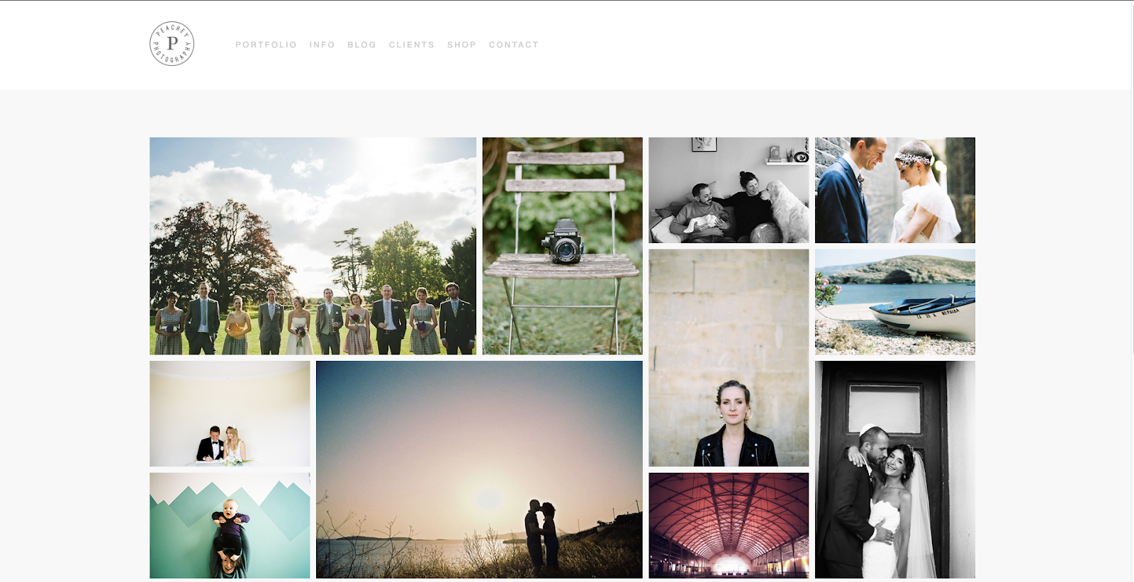 London-based photographer Katharine Peachey uses a minimalist website design to accentuate her photography portfolio.