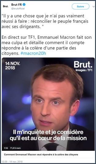 Macron - TF1 - gilets jaunes
