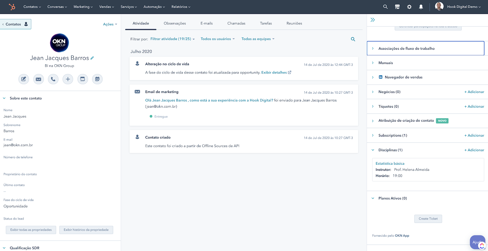 Hubspot Objeto customizado - Associação