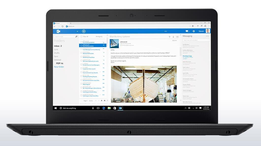 Фото1  Ноутбук ThinkPad E470 (20H1006JRT)
