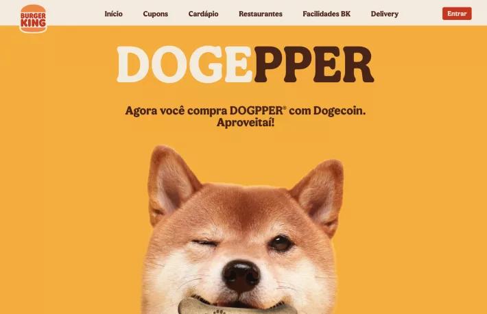 Khách hàng có thể dùng Dogecoin để mua thức ăn cho chó ở Burger King Brazil