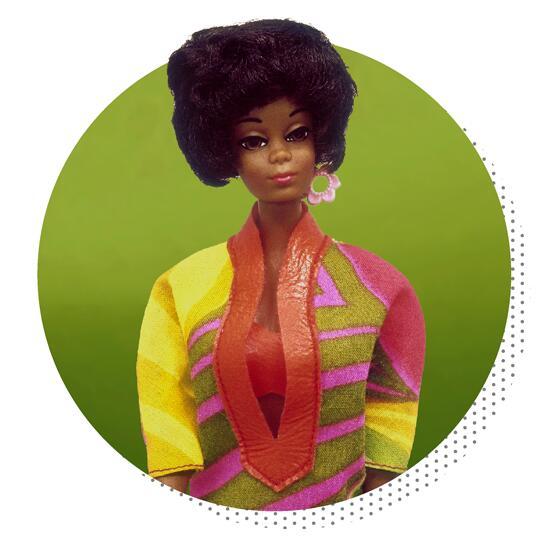 christie primera barbie afroamericana 1968