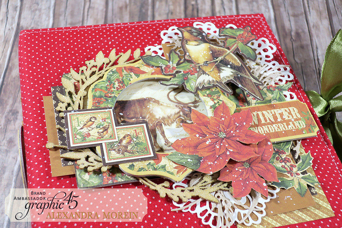 Winter Wonderland Mini Album, Project by Alexandra Morein, Product by Graphic 45, Photo 4.jpg