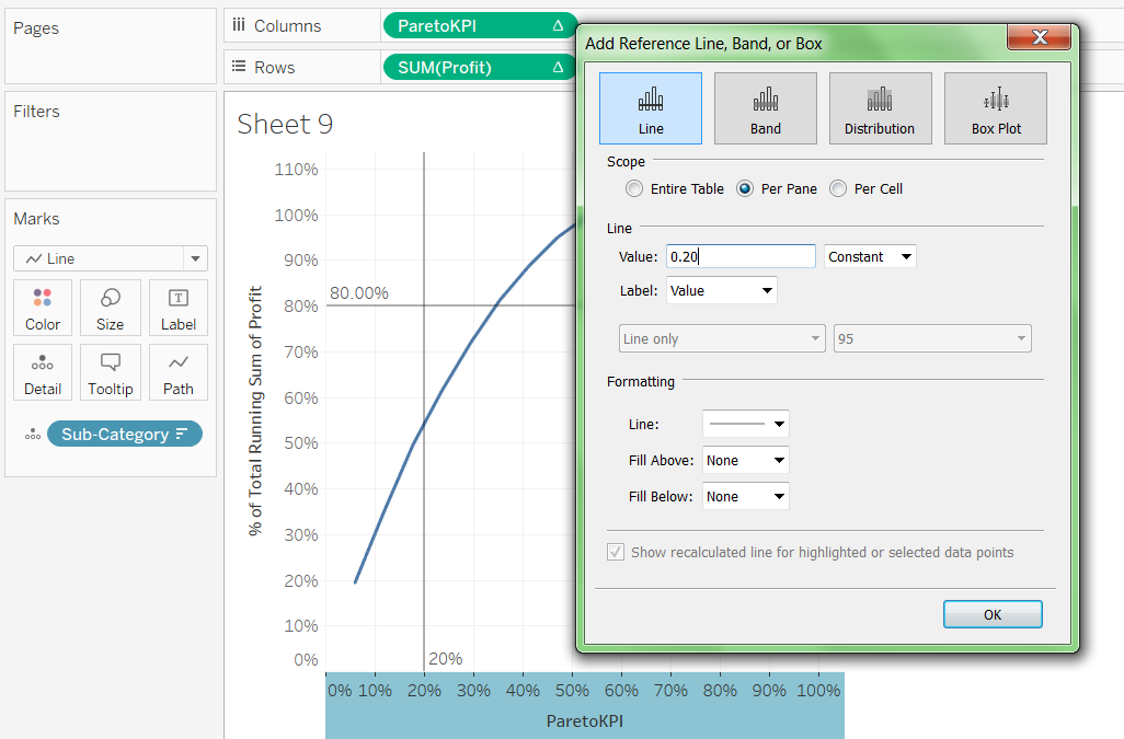 Pareto Chart In Tableau 40