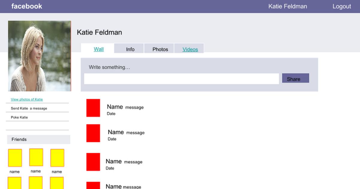 Copy of FakeBook Template - Google Slides