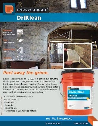 Single page sell sheet for DriKlean T-2402