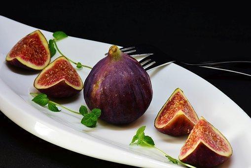 Fig, Sliced, Dessert, Fruit, Healthy