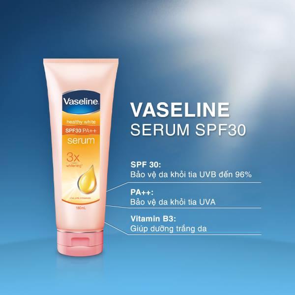 kem dưỡng trắng da toàn thân Vaseline – Healthy White Serum SPF30 PA++