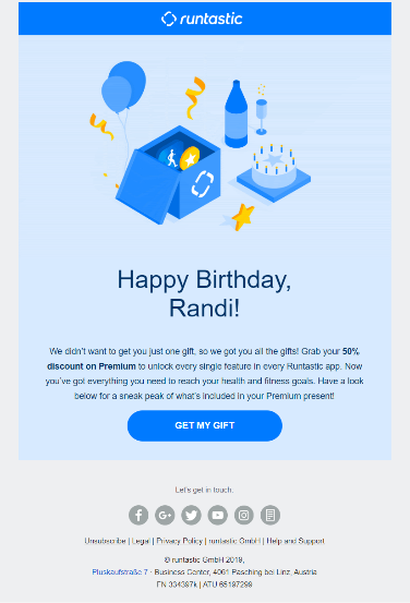 Birthday emails for email automation best practices