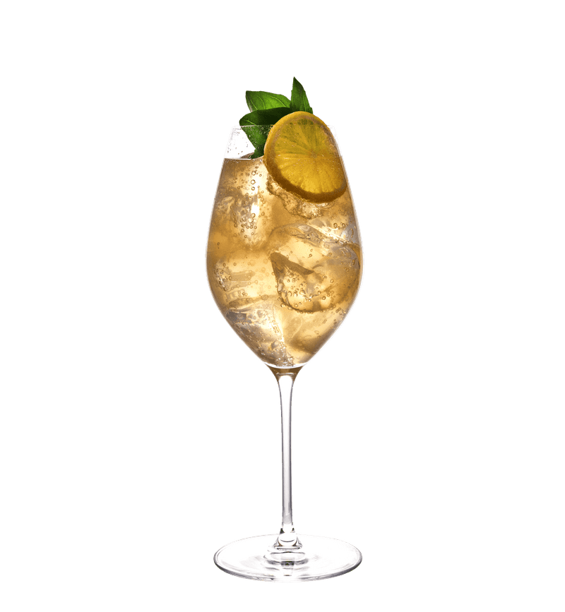 Lemon & Basil Spritz cocktail