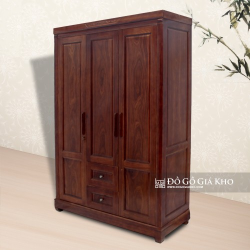 Tủ áo gỗ Óc chó 3 cánh TA050-3