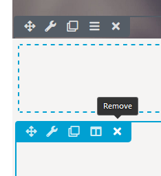 Edit page by removing row or module