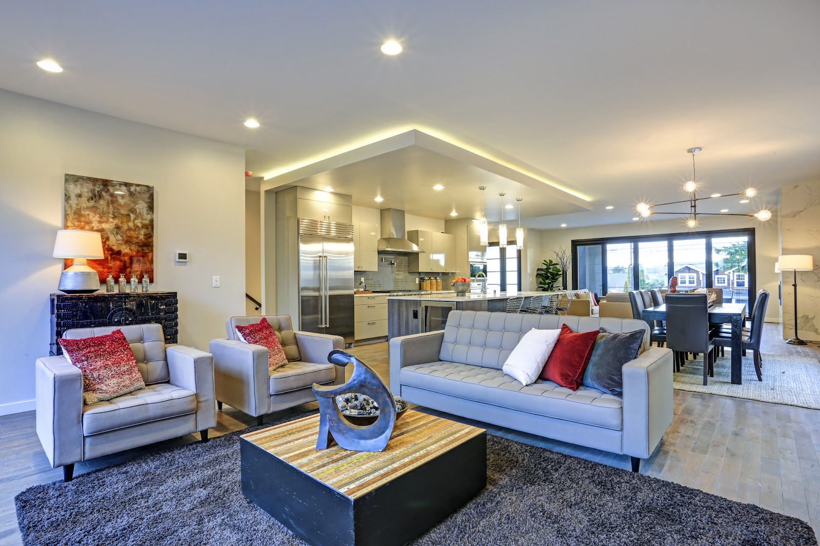 staged house with nice interior