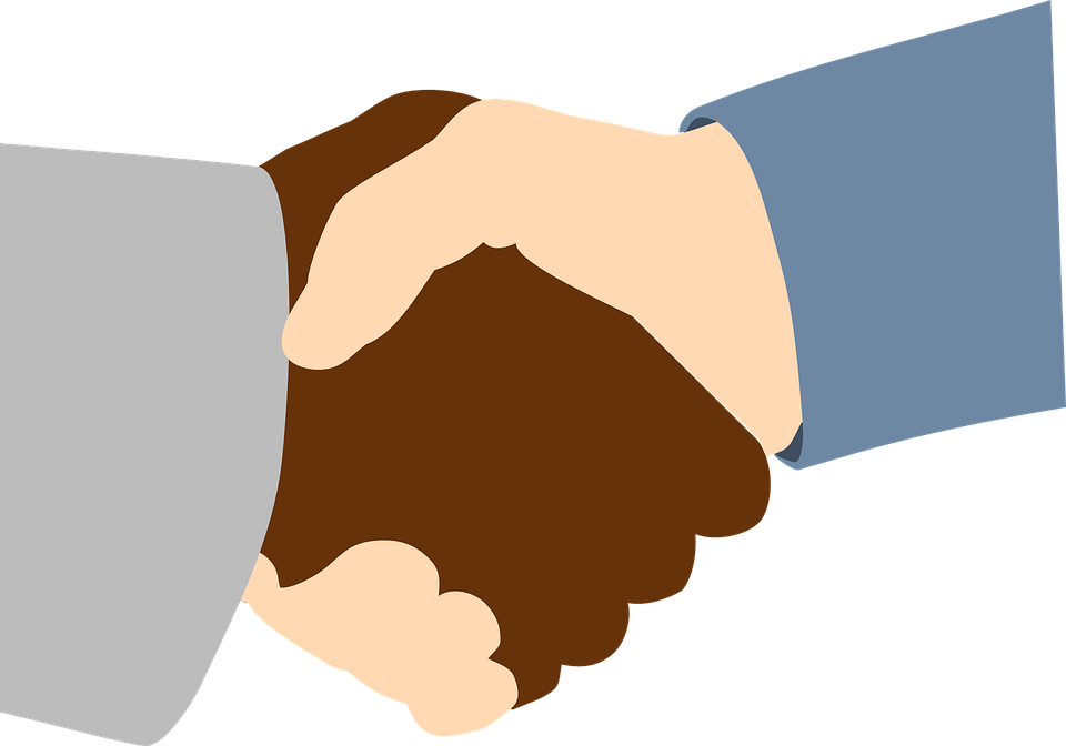 Handshake, Black, White, Friends, Business, People