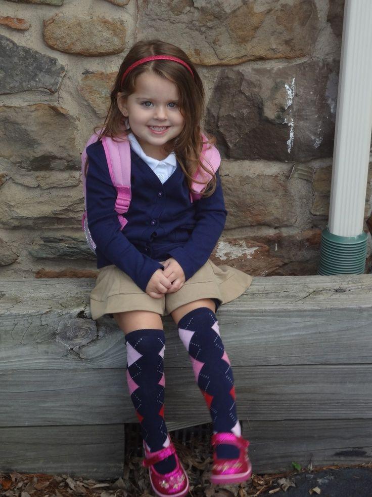 girl ready for school