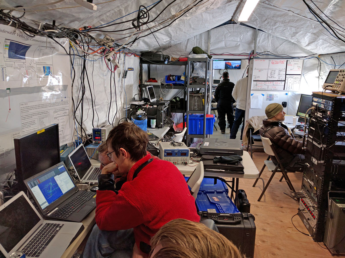 Interior of a mobile field station from WeatherPort
