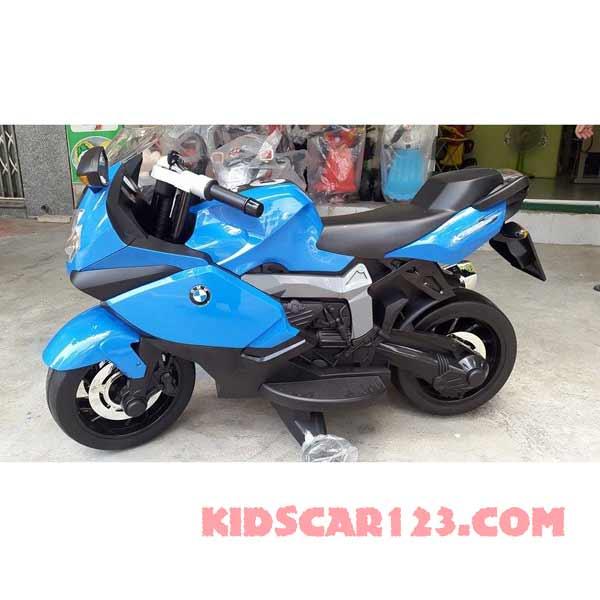 xe moto điện trẻ em BMW K1600S màu xanh ngọc