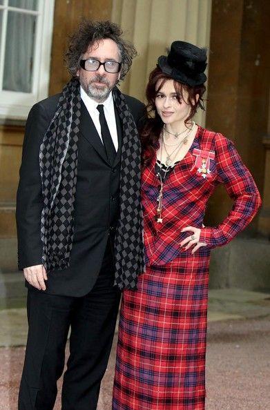Helena Bonham and her ex-boyfriend Tim Burton